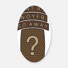 NOYFB Oval Car Magnet