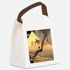 Boy in front of Fujiama.mouse Canvas Lunch Bag