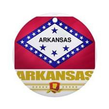 Arkansas (Flag 10) Round Ornament