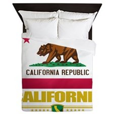 California (Flag 10) Queen Duvet