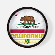 California (Flag 10) Wall Clock
