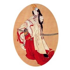 Shirabyoshi dancer.square.57 Oval Ornament