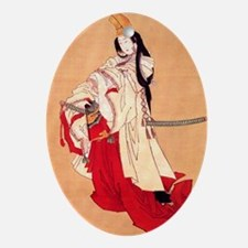 Shirabyoshi dancer.square.57 Oval Ornament
