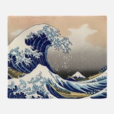 great-wave.57 Throw Blanket