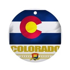 Colorado (Flag 10) Round Ornament