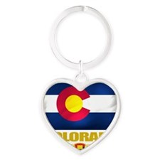 Colorado (Flag 10) Heart Keychain