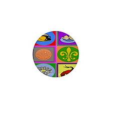 New Orleans Symbols 2asq Mini Button