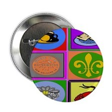 "New Orleans Symbols 2asq 2.25"" Button"