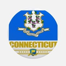 Connecticut (Flag 10) Round Ornament