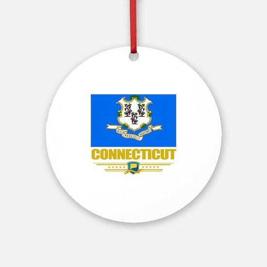 Connecticut (Flag 10) Round Ornament
