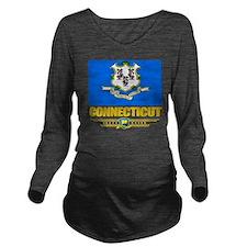 Connecticut (Flag 10 Long Sleeve Maternity T-Shirt