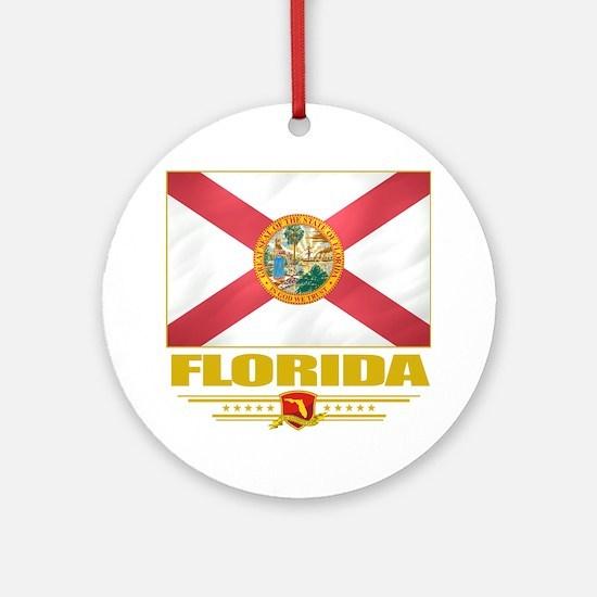 Florida (Flag 10) Round Ornament