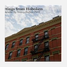 hoboken calendar Tile Coaster