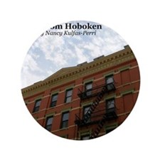 """hoboken calendar 3.5"""" Button"""