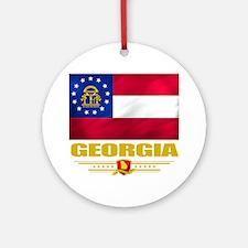 Georgia (Flag 10) Round Ornament