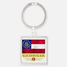 Georgia (Flag 10) Square Keychain
