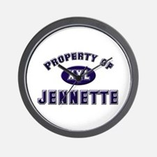 Property of jennette Wall Clock