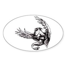 Griffin Fantasy Art Oval Decal