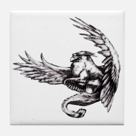 Griffin Fantasy Art Tile Coaster