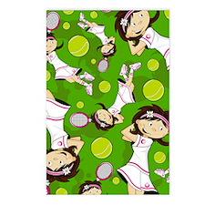 Tennis Pad12 Postcards (Package of 8)