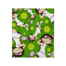 Tennis Pad12 Throw Blanket