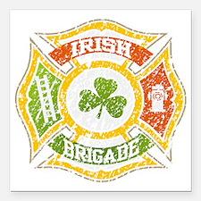 "IRISH Brigade png file Square Car Magnet 3"" x 3"""