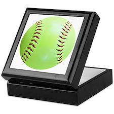 Softball Earrings, Charms Keepsake Box