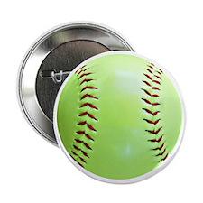 "Softball Earrings, Charms 2.25"" Button"
