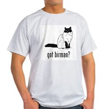 Birman Ash Grey T-Shirt