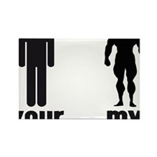 YOUR MAN VS MY MAN Rectangle Magnet