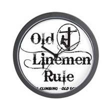 old linemen rule 1 Wall Clock