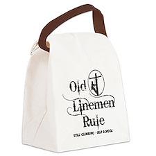 old linemen rule 1 Canvas Lunch Bag