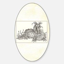 dragon on parchment framed Decal