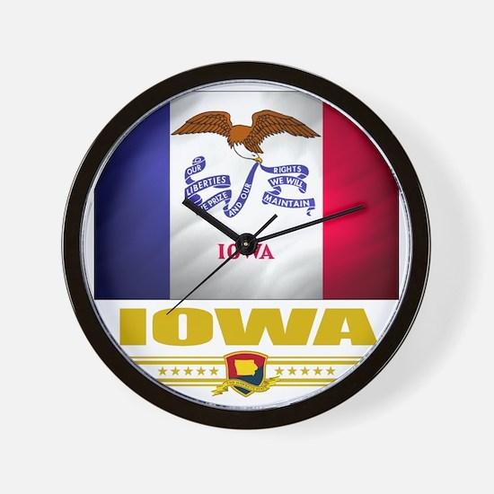 Iowa (Flag 10) Wall Clock