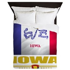Iowa (Flag 10) Queen Duvet