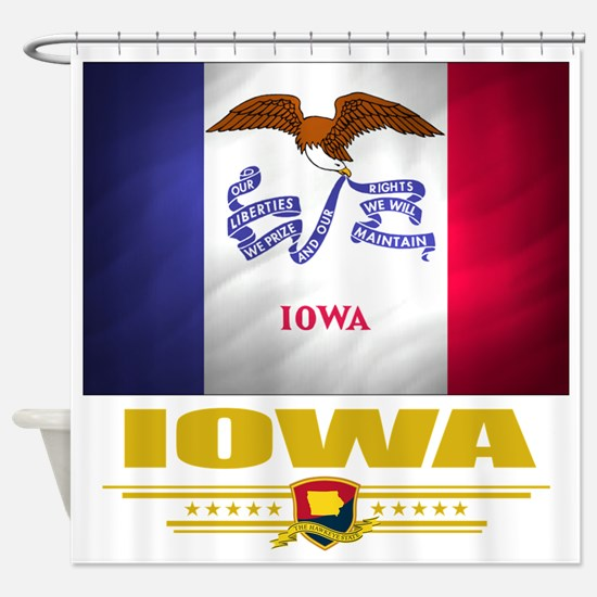 Iowa (Flag 10) Shower Curtain