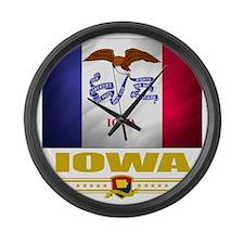 Iowa (Flag 10) Large Wall Clock