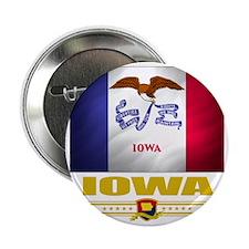 """Iowa (Flag 10) 2.25"""" Button"""