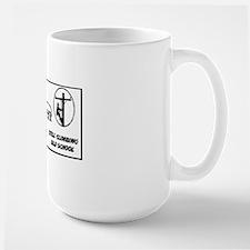 old linemen rule car tag 1 Mug