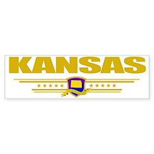 Kansas (Flag 10) pocket Bumper Sticker