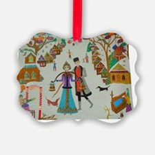 RussianVillagePoster Ornament