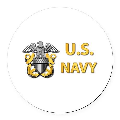 U.S. Navy Round Car Magnet