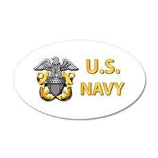 U.S. Navy 20x12 Oval Wall Decal