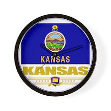 Kansas (Flag 10) Wall Clock