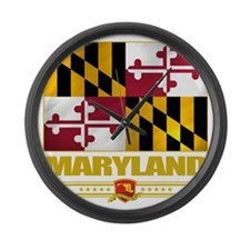 Maryland (Flag 10) Large Wall Clock