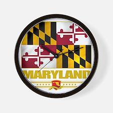 Maryland (Flag 10) Wall Clock