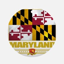 Maryland (Flag 10) Round Ornament