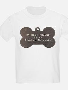 Friend Malamute Kids T-Shirt