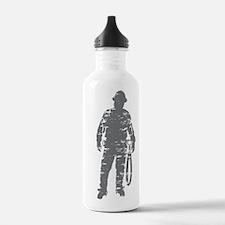 old linemen rule 3 Water Bottle