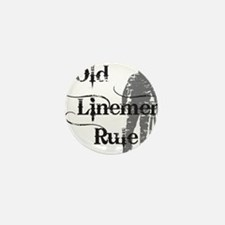 old linemen rule 2 Mini Button